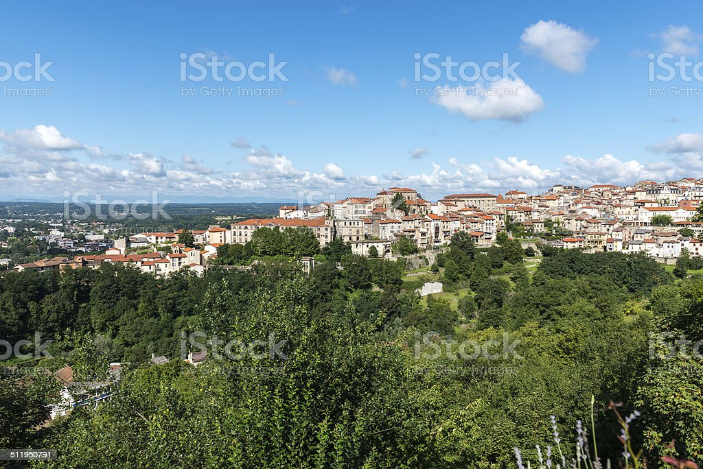 City of Thiers, department of Puy-de-Dome (France) stock photo