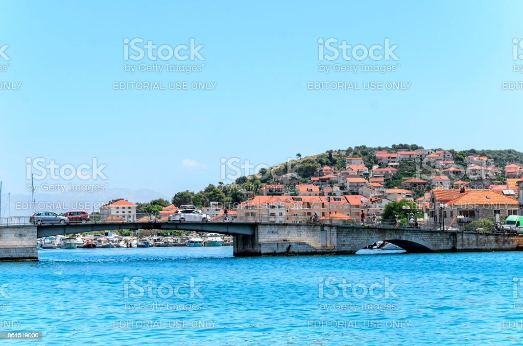 City of Trogir, Croatia. stock photo