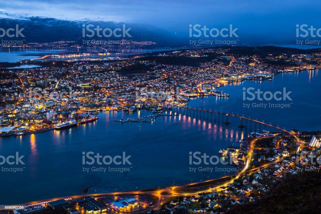 City of Tromso Norway stock photo