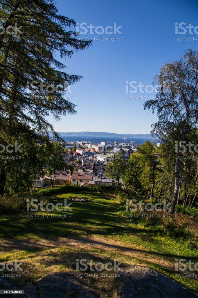 Stadt von Trondheim (Hochformat) – Foto