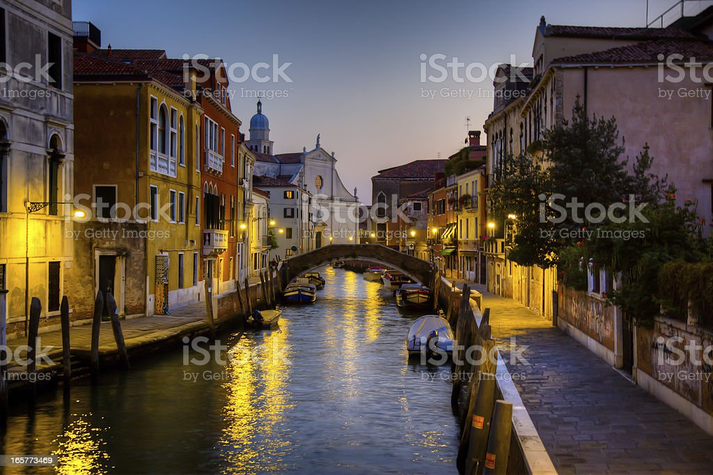 City of Venice at Sunset, Italy royalty-free stock photo