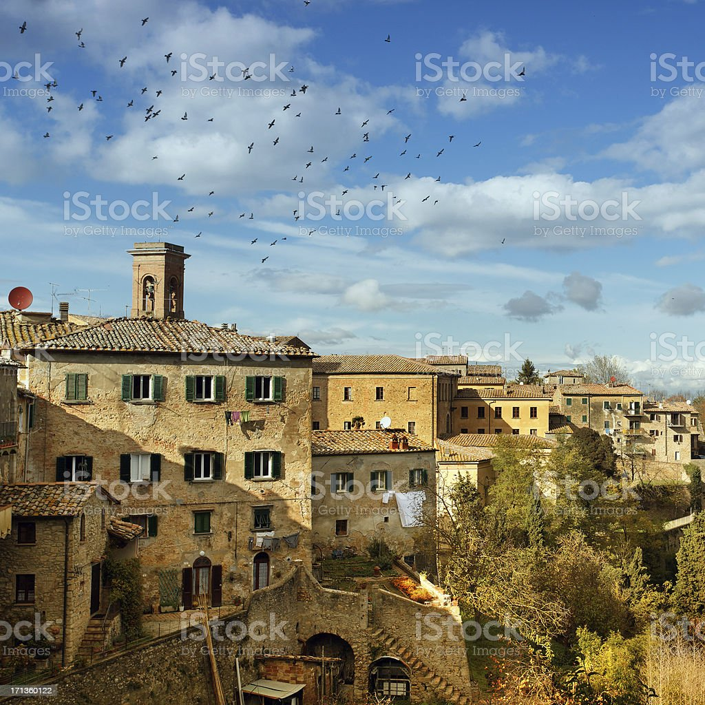 City of Volterra in Italy stock photo