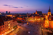 istock City of Warsaw by night 1313498051