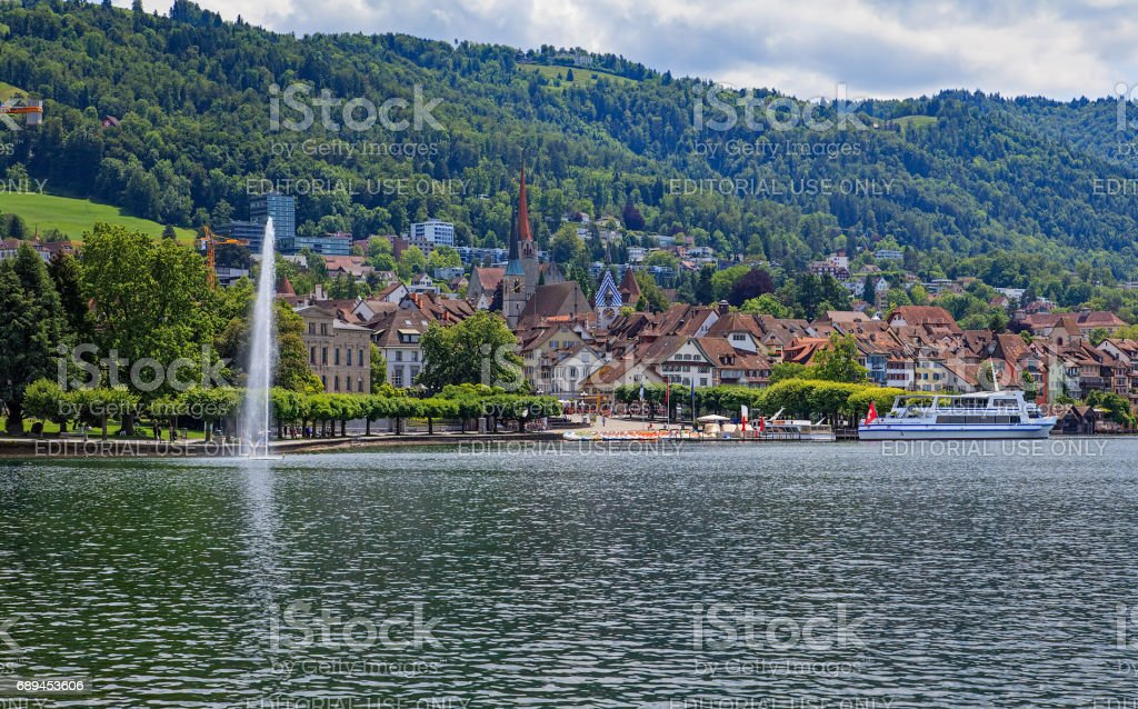 City Of Zug In Switzerland Stock Photo & More Pictures of Canton Of ...