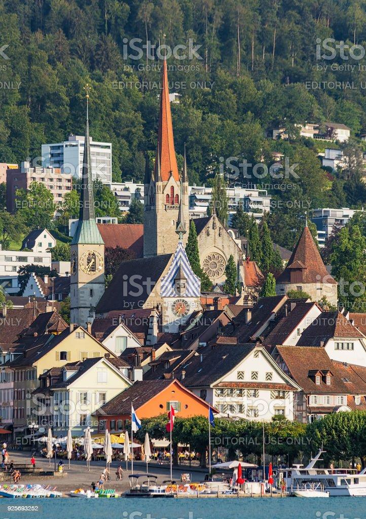 Stadt Zug In Der Schweiz Stockfoto und mehr Bilder von ...