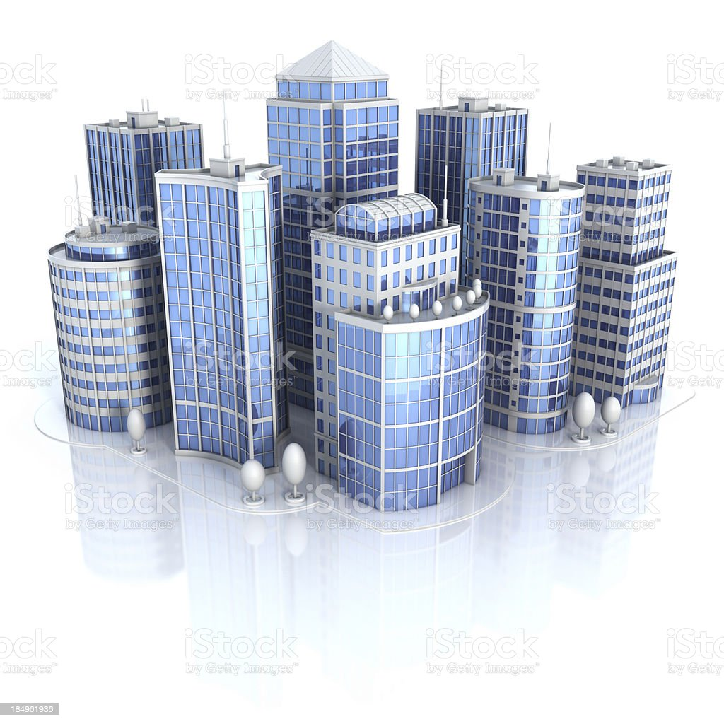 City office buildings royalty-free stock photo