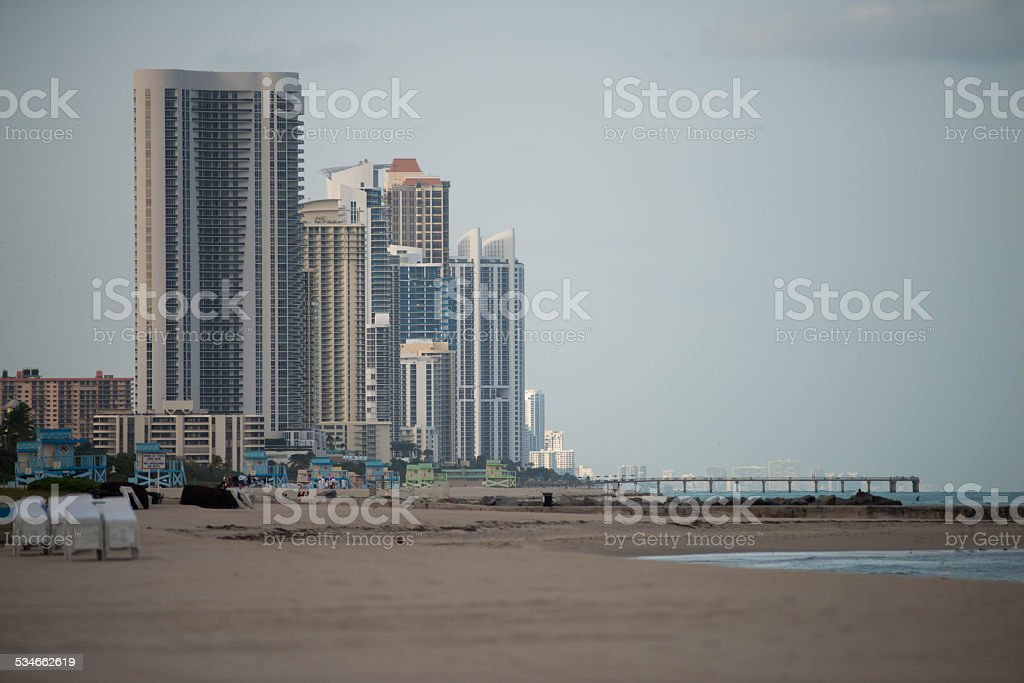City on the Beach stock photo