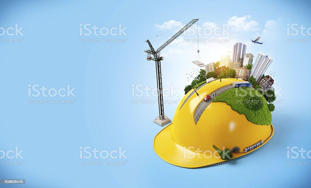 Stadt am Bau Helm. – Foto