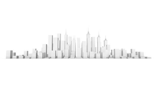 白い背景の 3 d の都市 - 模型 ストックフォトと画像