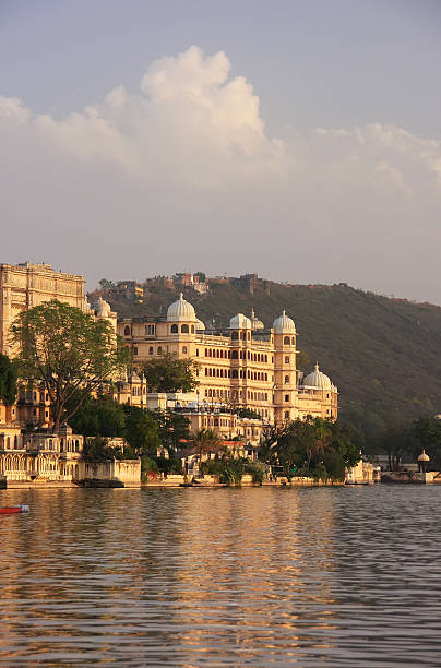 City Palace complex, Udaipur, Rajasthan, India City Palace complex, Udaipur, Rajasthan, India lake pichola stock pictures, royalty-free photos & images