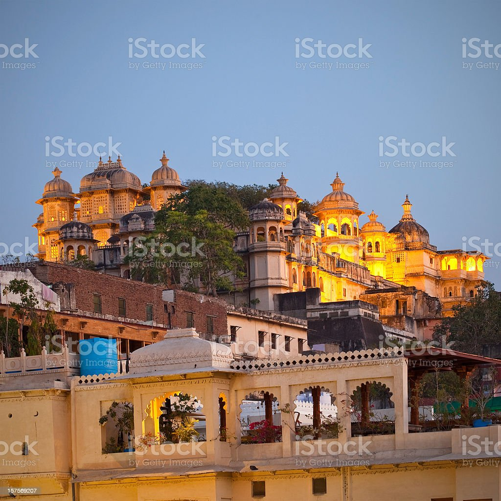 City Palace In Udaipur, India stock photo