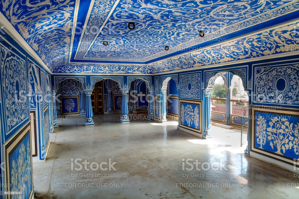 City Palace Jaipur Rajasthan Interior Architecture Artwork With Wall