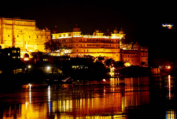 City palace Udaipur at night More india photos lake palace stock pictures, royalty-free photos & images