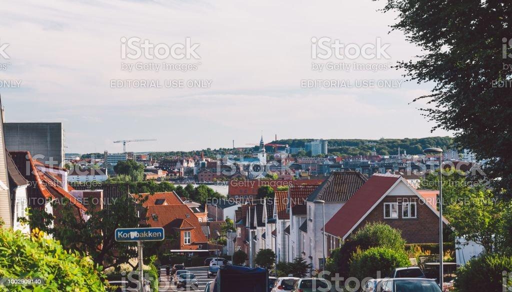 City panorama, Aalborg stock photo