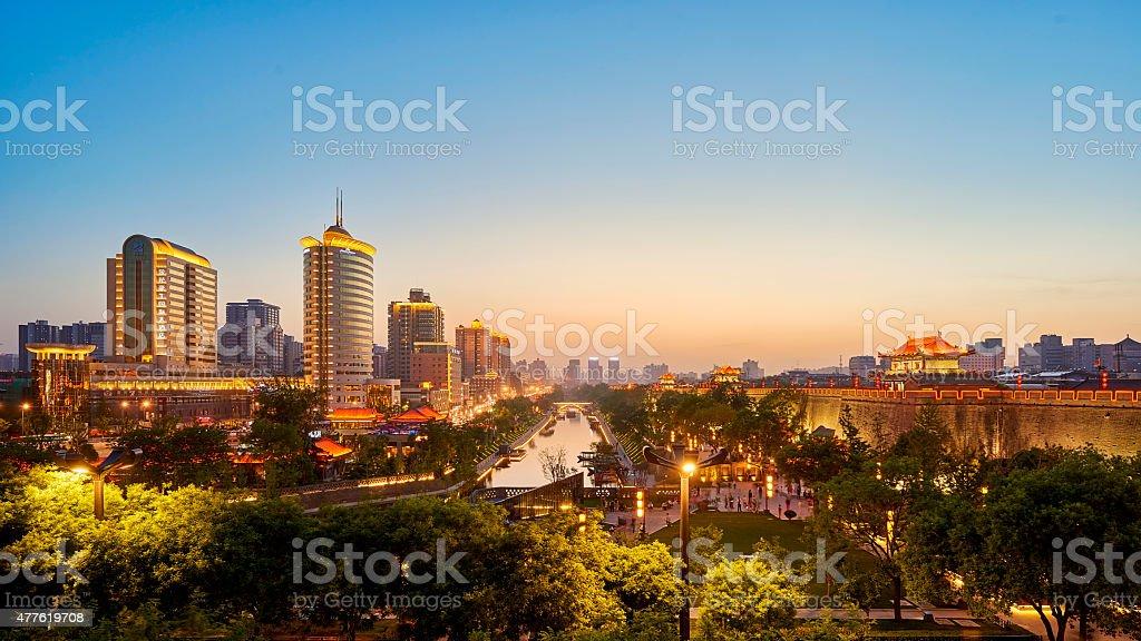 city panorama stock photo