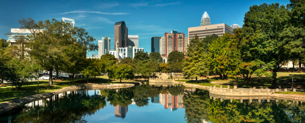 City-Panorama-Skyline der Innenstadt von Charlotte North Carolina USA – Foto