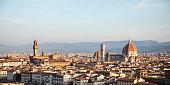 Panorama Florence, Dome Santa Maria del Fiore and Palazzo Vecchio in Florence