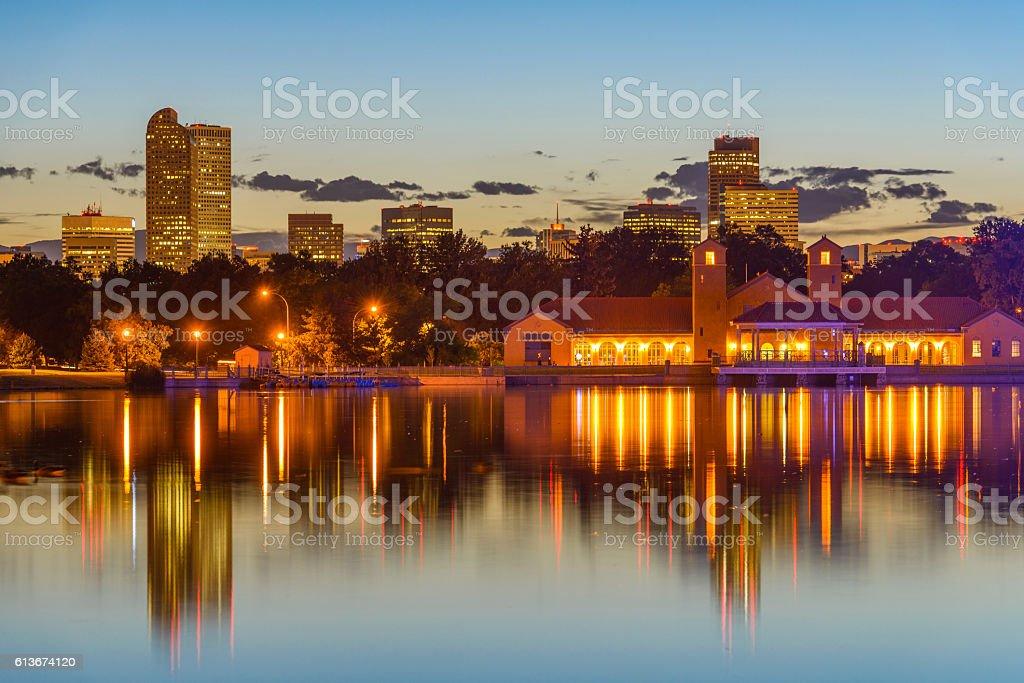 City Park at Dusk stock photo