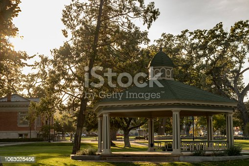 City Park Gazebo in Paso Robles, California, USA.