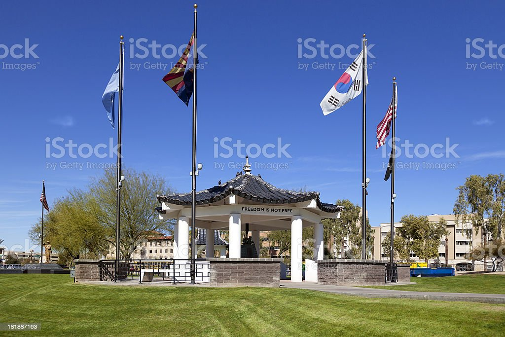 City park in Phoenix, Arizona royalty-free stock photo