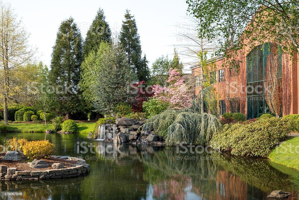 City park in Salem, Oregon stock photo