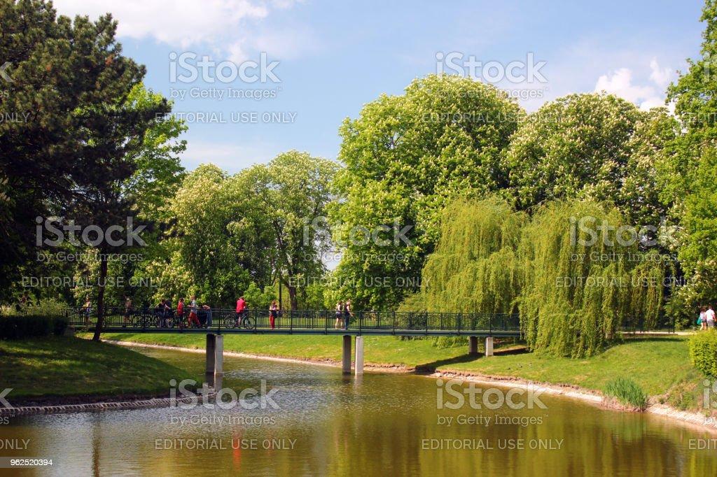 City park in Zamosc, Poland - Royalty-free City Stock Photo