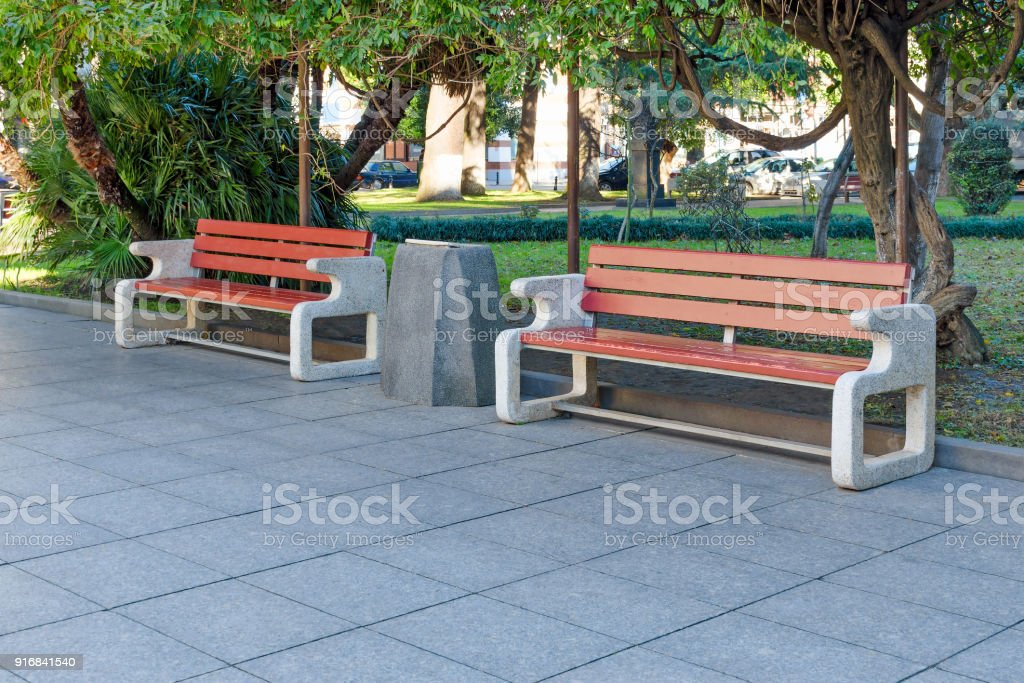 Pleasant City Park Or Street With Green Trees And Tile Two Neat Uwap Interior Chair Design Uwaporg