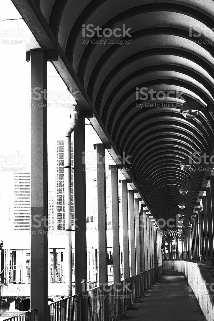 city pathway royalty-free stock photo
