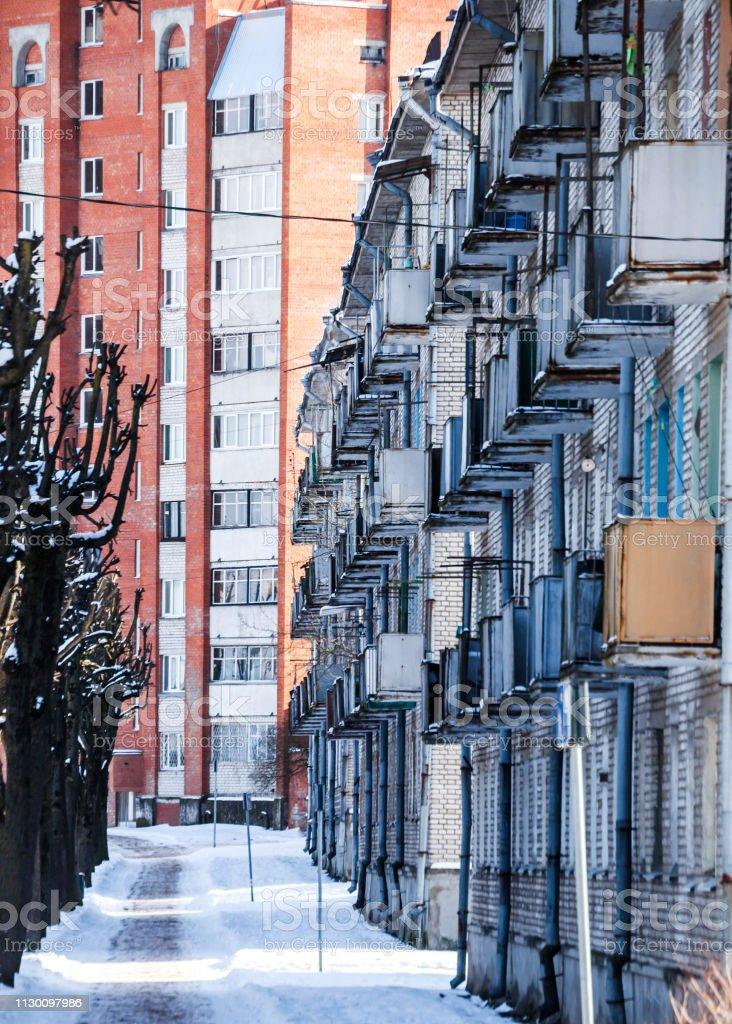 City patterns - Sillamae, Estonia stock photo