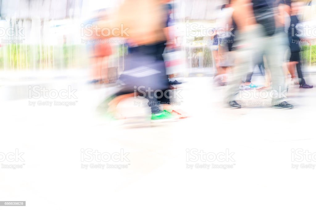 city people and abstract background blur action royalty-free stock photo