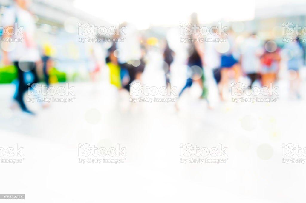 şehir insanlar kalabalık arka plan bulanıklık eylem royalty-free stock photo