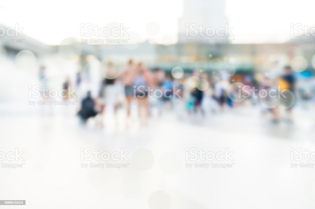 city people crowd abstract background blur action royalty-free stock photo