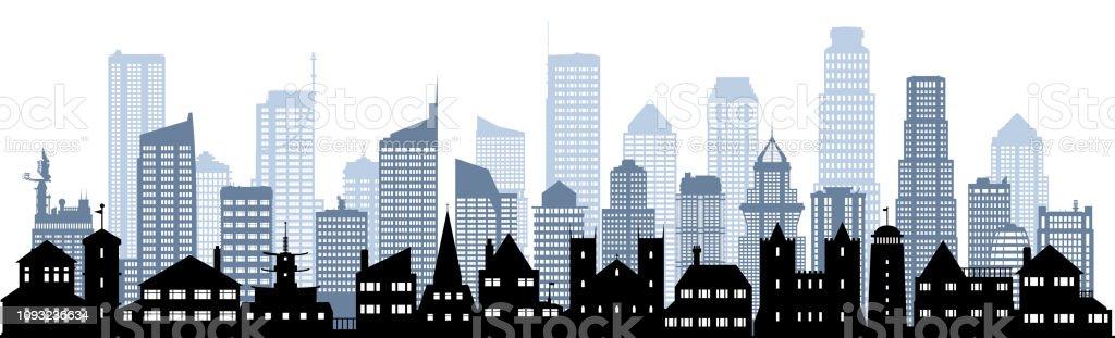 (すべての建物が完成し可動) 市 ストックフォト