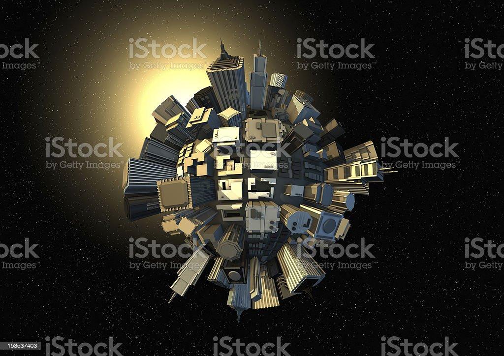 City Planeten in Raum – Foto