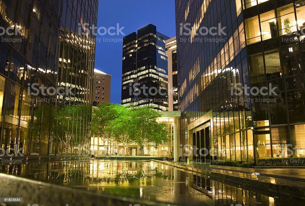 City plaza at night stock photo