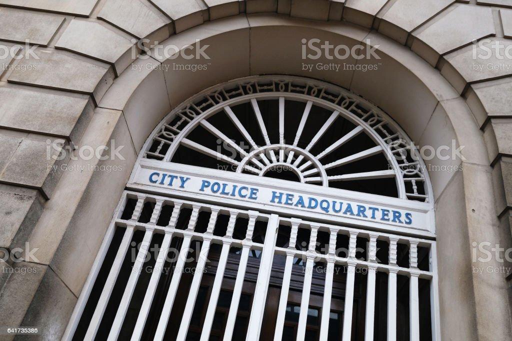 City Police Headquarters stock photo