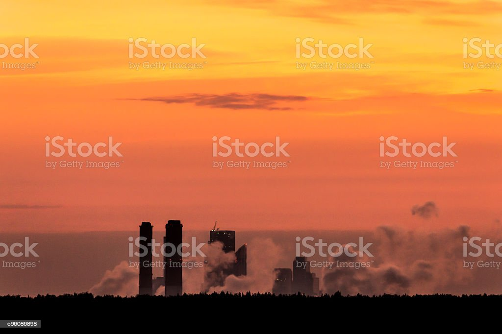 City pollutes environment. royalty-free stock photo