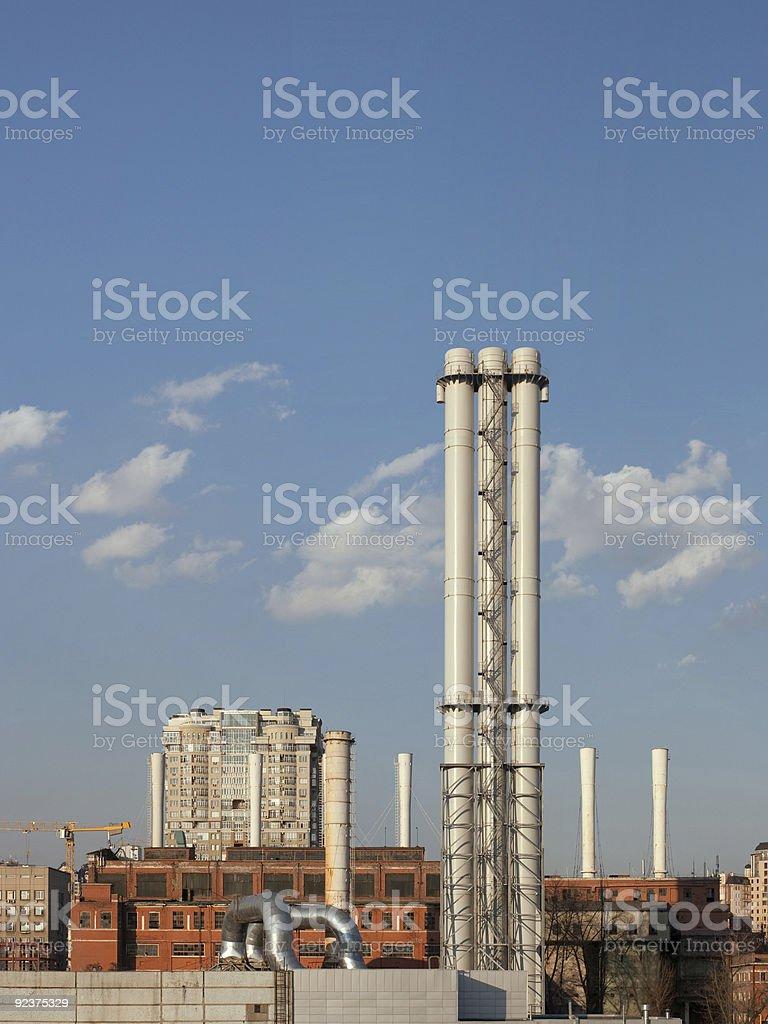 City power station royalty-free stock photo