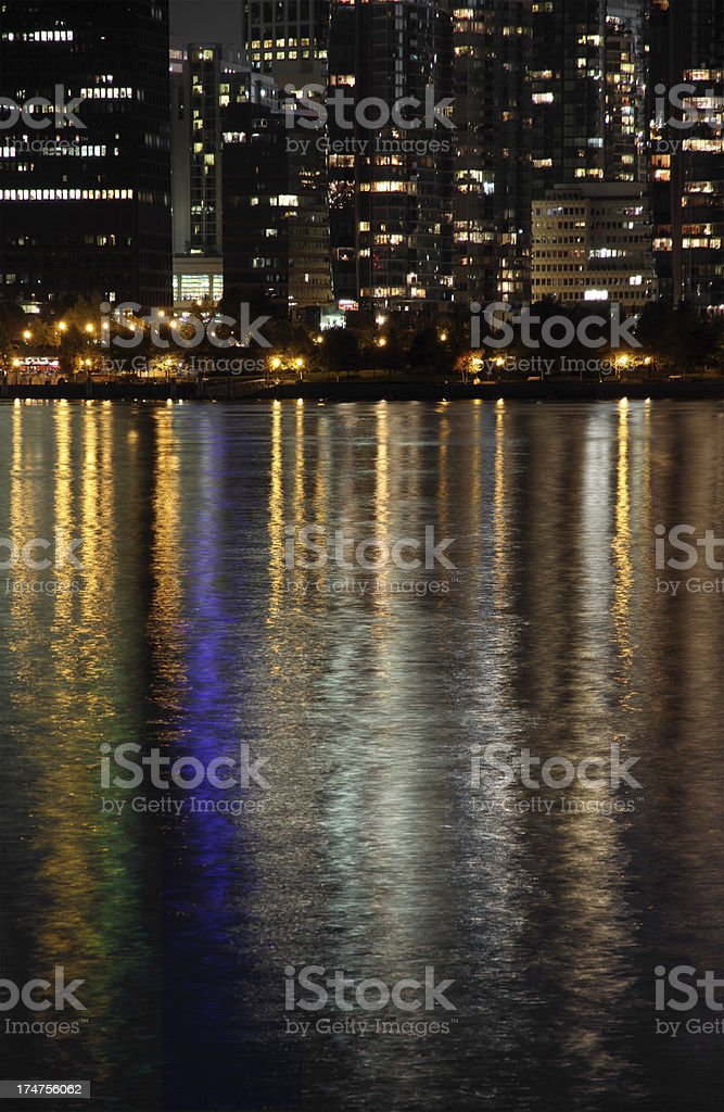 City Reflected in the Sea royalty-free stock photo