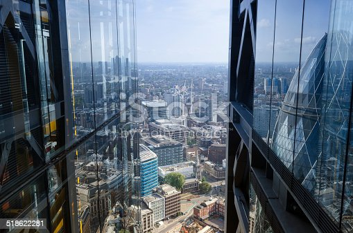 istock City reflections, architectural abstract, London 518622281