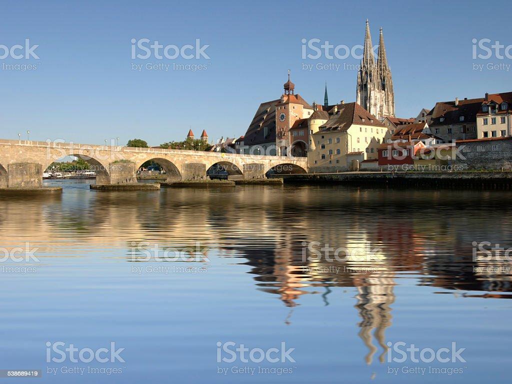city Regensburg in Bavaria stock photo