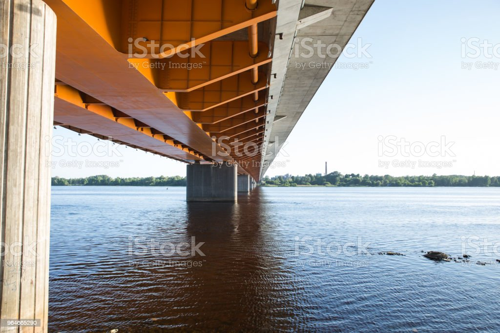 City Riga, Latvia. Dienvidu bridge, urban city view. royalty-free stock photo