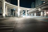 City road viaduct night of night scene