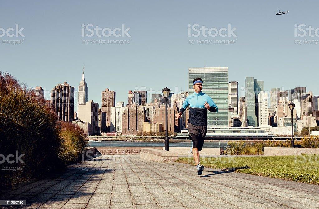 City Run royalty-free stock photo