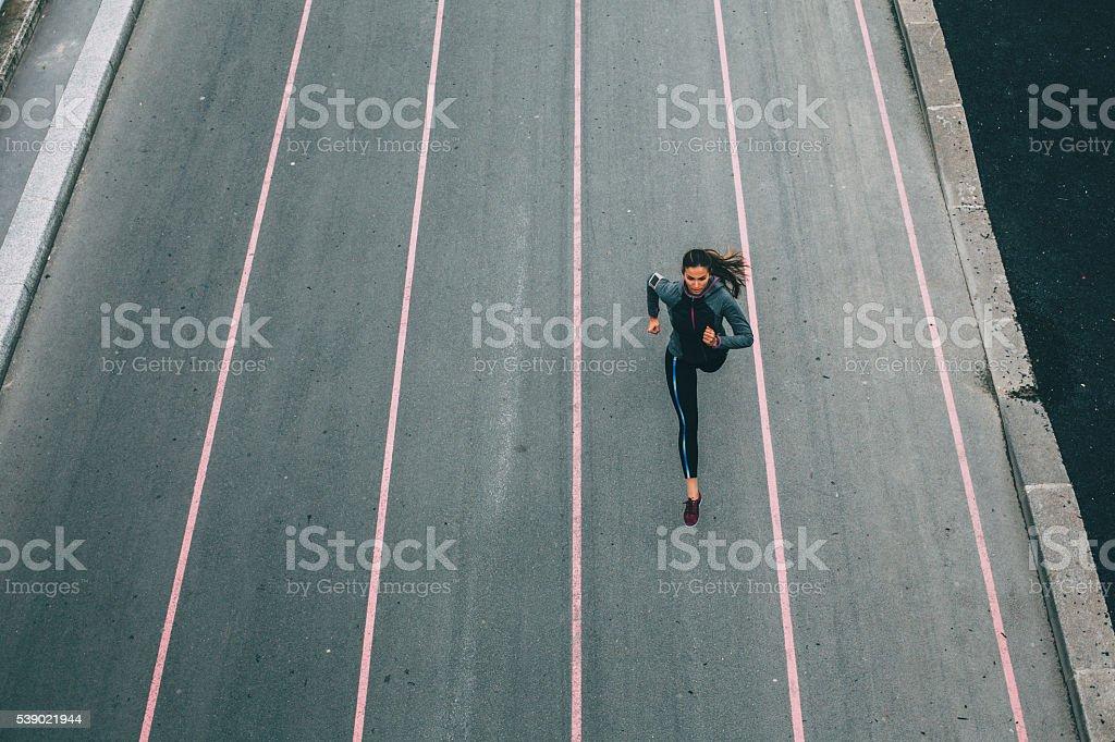 City Running royalty-free stock photo