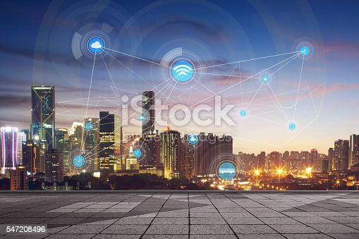 540226428 istock photo City scape and network connection concept 547208496