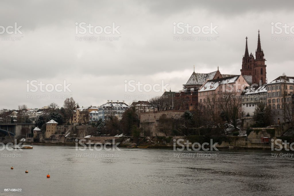City Scape Basel foto stock royalty-free