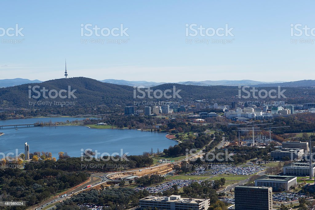 City scape Canberra stock photo