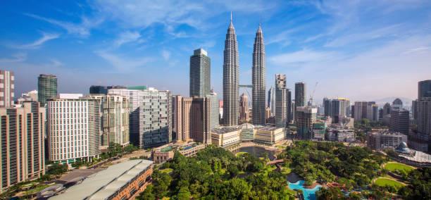 메인 빌딩으로 쿠알라룸푸르 시티의 도시 풍경 - 쿠알라룸푸르 뉴스 사진 이미지