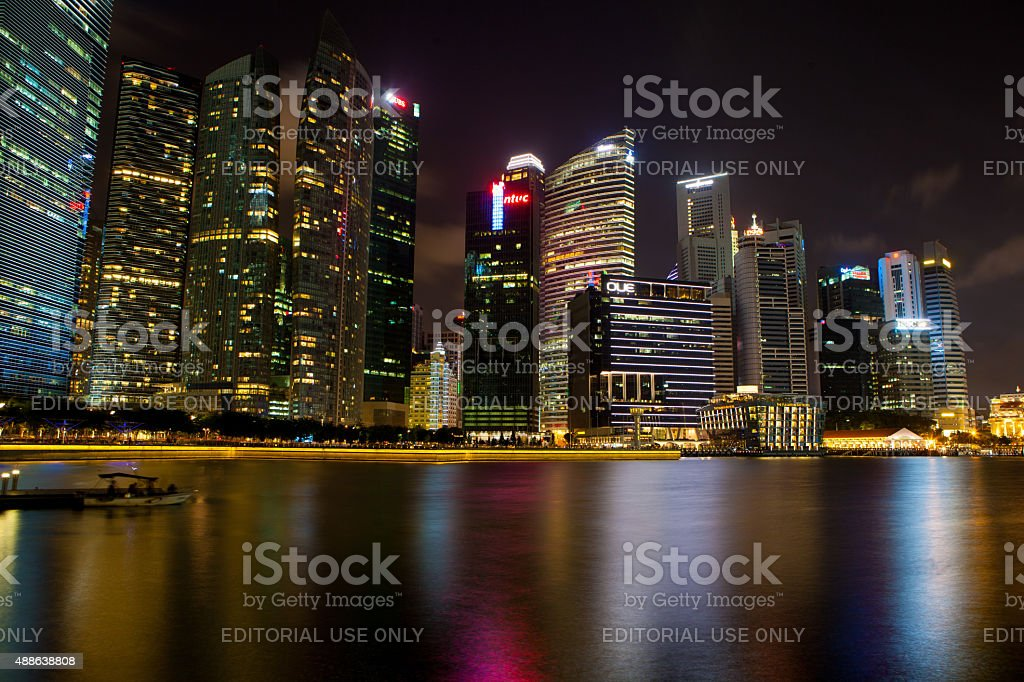 City Scape Of Marina Bay In Singapore Asia Stock Photo